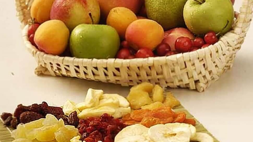 تفاوت میوه خشک با میوه طبیعی